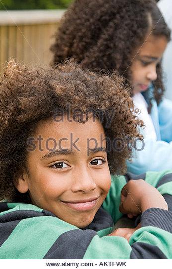 Junge, Lächeln Stockbild