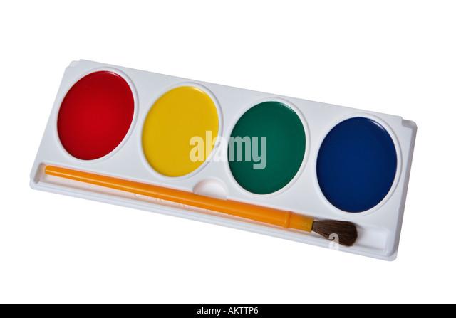 Aquarellfarbe-Set Stockbild