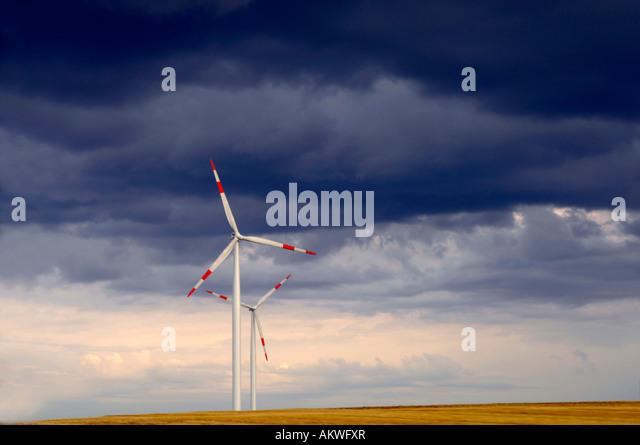 Deutschland, Baden-Württemberg, schwäbischen Alb, Windkraftanlagen Stockbild