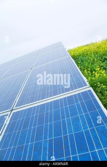 Deutschland, Bayern, Sonnenkollektoren Stockbild