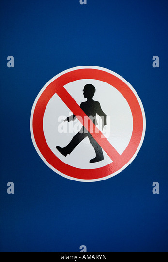 "Ein Schild ""No Entry"" Stockbild"