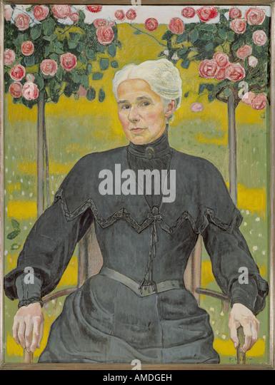 """""""Bildende Kunst, Hodler, Ferdinand (1853-1918), Malerei,""""Madame Emme"""", Privatbesitz, Schweiz, historisch, Stockbild"""