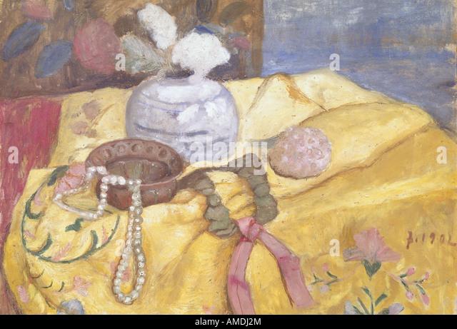 Bildende Kunst, Modersohn-Becker, Paula (1876-1907), Gemälde, Stillleben Perle Halskette, 1902, Lower Saxon Stockbild