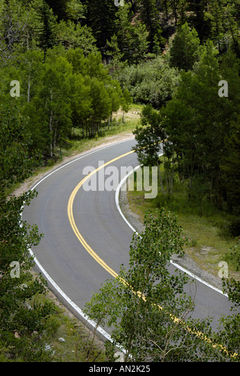 Eine Straße-Kurve Stockbild