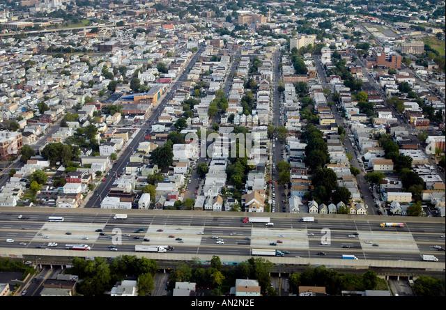 Luftbild von New Jersey und New Jersey Turnpike NJ USA Stockbild