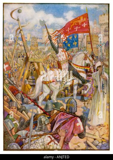Kreuzzüge Richard 1 Stockbild