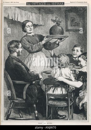 Mutter bringt In Pudding Stockbild
