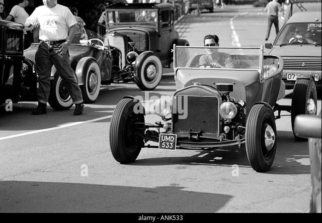 Roadster kommt Hembsby Rock ' n Roll Retro-Festival (1995) Stockbild