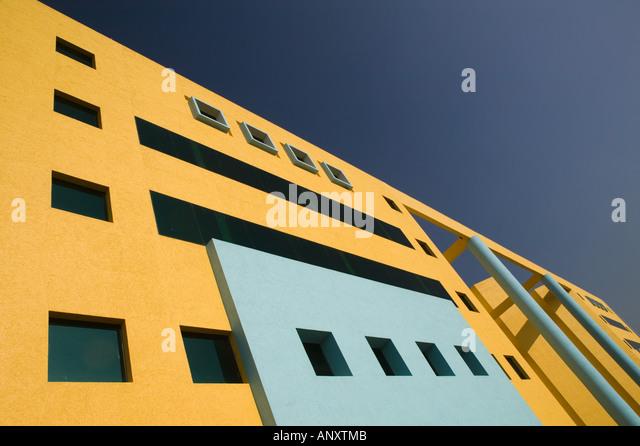 Andhra Pradesh, Indien, Hyderabad: HITEC Stadt, Major Center der indischen Call Centre Softwareindustrie. Kanbay Stockbild