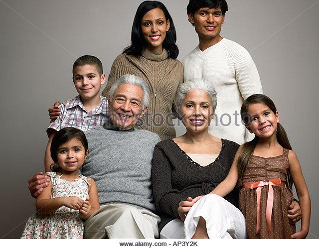 Familienbild Stockbild