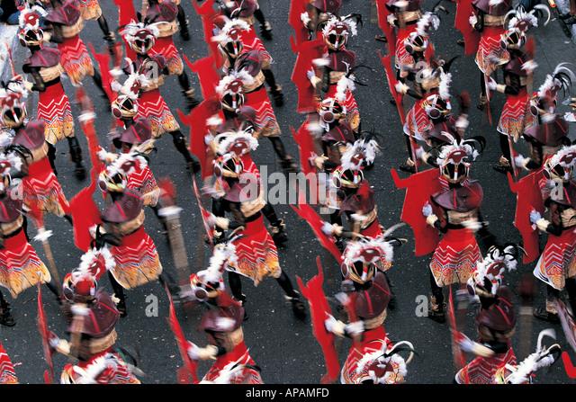 Dinigyang Festival Panay Philippinen Stockbild