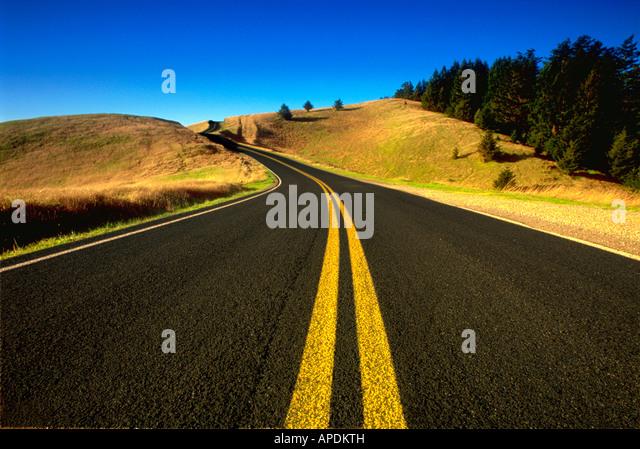Verlassenen Highway Route 1 Kalifornien Stockbild