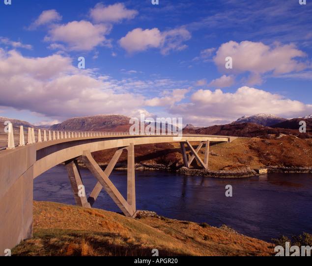 Kylesku Brücke, Highland, Sutherland, Schottland, UK Stockbild