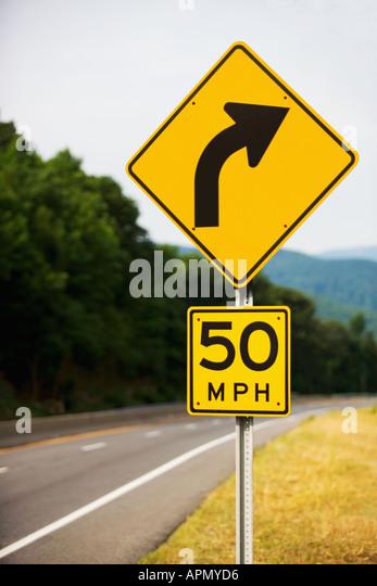 Kurve in der Straße Stockbild