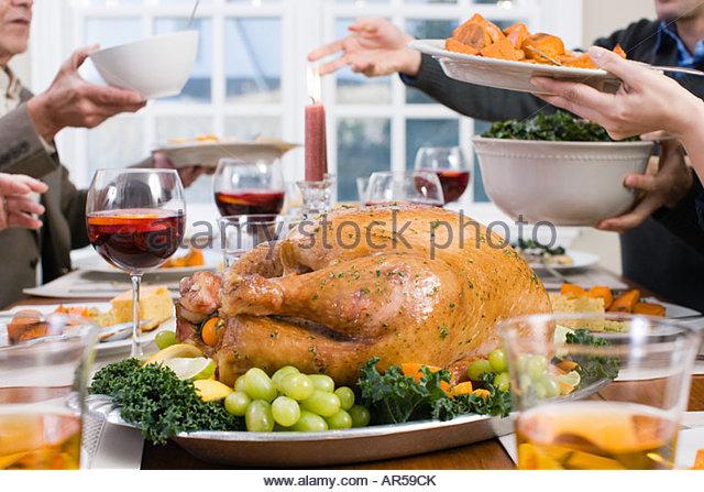 Thanksgiving-dinner Stockbild