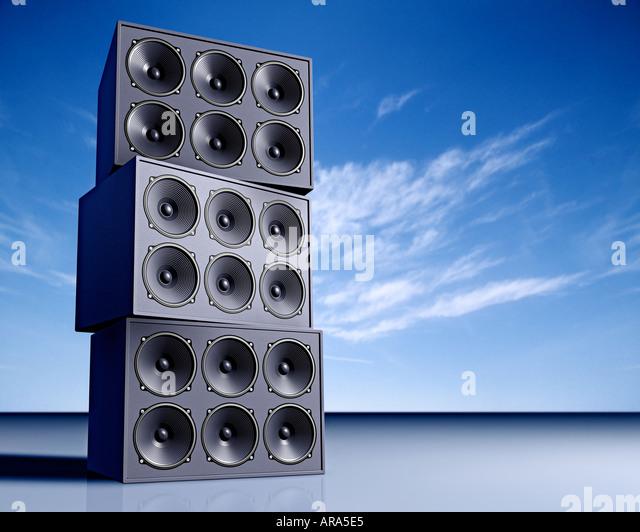 Lautsprecher-Box Lautsprecher Musik Sound Stockbild