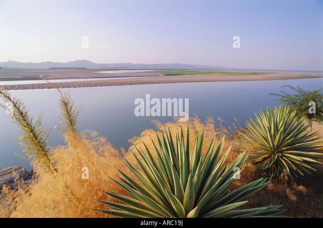 Der Irrawaddy-Fluss in Bagan (Pagan), Myanmar (Burma), Asien Stockbild