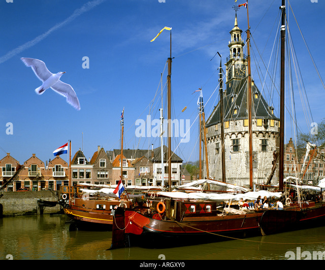 NL - NOORD-HOLLAND: Hoorn Hafen Stockbild