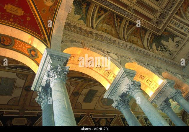 USA Vereinigte Staaten von Amerika Washington DC Bibliothek des Kongresses innen Detail Stockbild