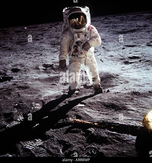 US-amerikanischer Astronaut Neil Armstrong NASA Apollo 11 Mondlandung Stockbild