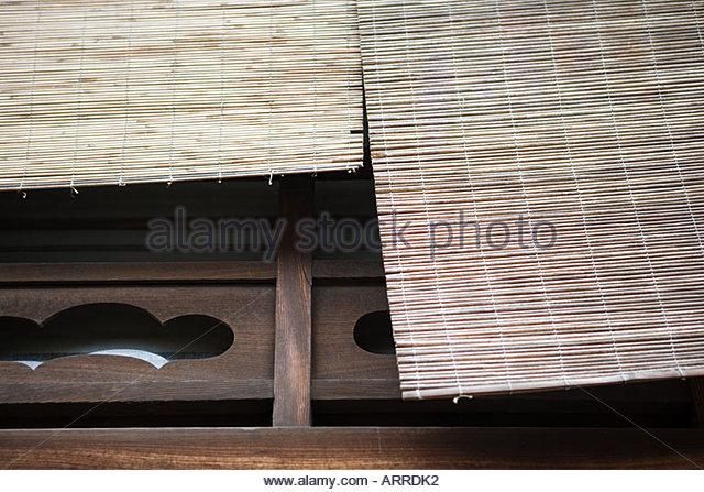 Hölzerne Vorhänge Stockbild