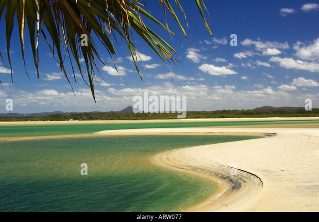 Noosa Inlet Noosa Heads Sunshine Coast Queensland Australien Stockbild