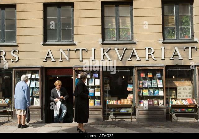 Kopenhagen Dänemark Antiquariat Stockbild