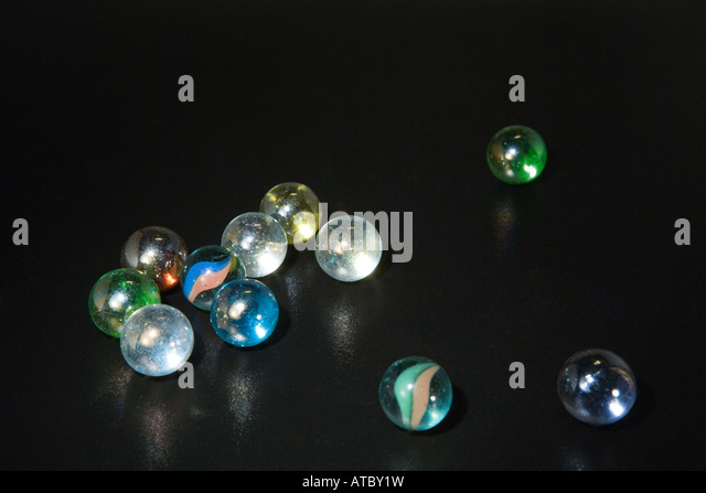 Glasmurmeln, close-up Stockbild