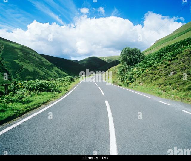 Eine Landstraße Stockbild