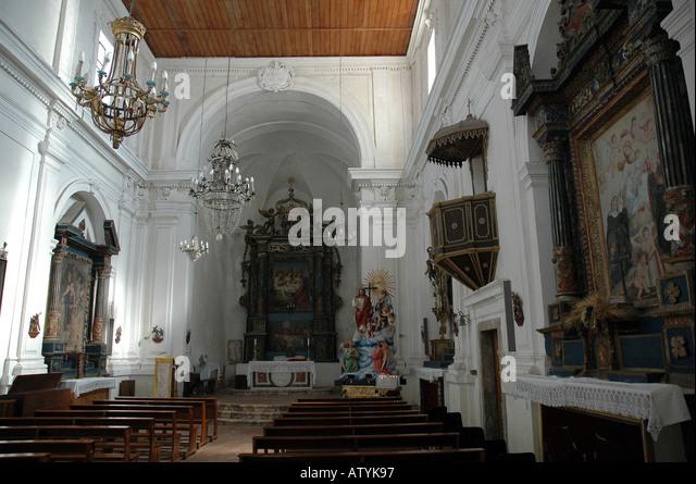 Religiöse Bilder Taormina Sizilien Stockbild