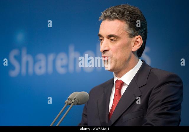 Frank Appel CEO von Deutsche Post World Net Stockbild