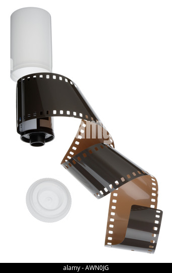 35mm Film und Kassette Stockbild