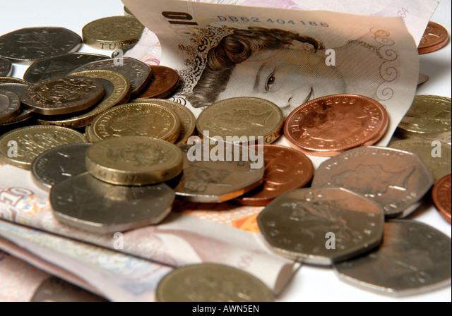 Geld Großbritannien Stirling. Stockbild