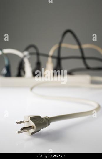 Elektrischer Stecker Stockbild