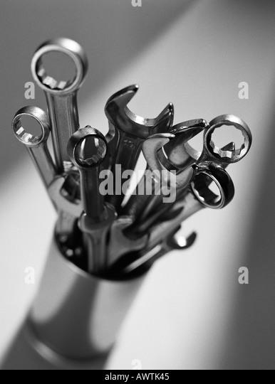 Schraubenschlüssel, close-up Stockbild
