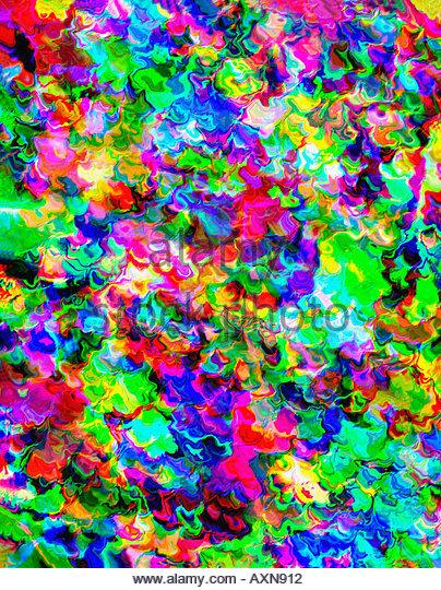 Computergenerierte abstrakte Farben Stockbild