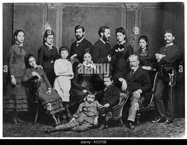 Freud Familie 1876 Stockbild