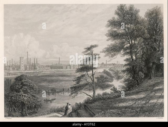 Industrie-Burton-On-Trent Stockbild
