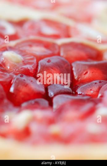 Granatapfelkerne, extreme Nahaufnahme Stockbild
