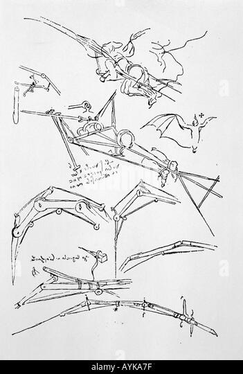 Leonardo-Skizzen Stockbild