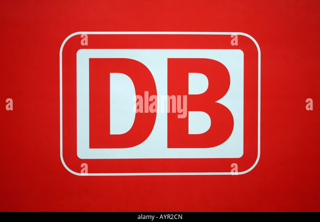 Logo der Deutschen Bahn AG (Deutsche Bahn) Stockbild