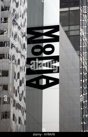 MOMA MUSEUM OF MODERN ART MIDTOWN MANHATTAN NEW YORK CITY VEREINIGTE STAATEN VON AMERIKA USA Stockbild
