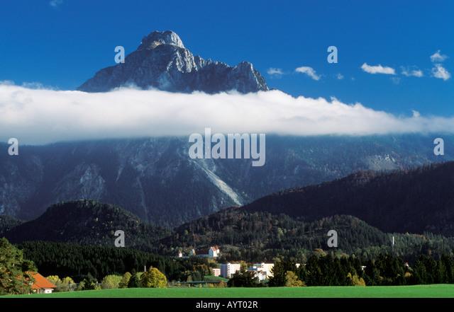 Füssen, Saeuling, Ost-Allgäu, Bayern, Deutschland, Europa Stockbild