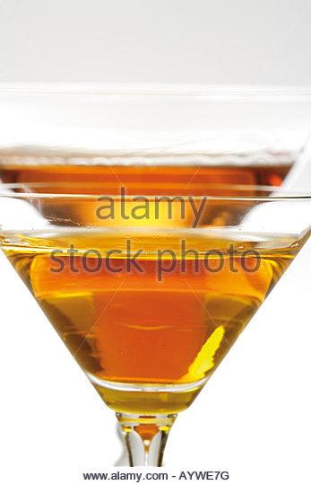 Getränke, Getränk, Curaçao Im Glas Stockbild
