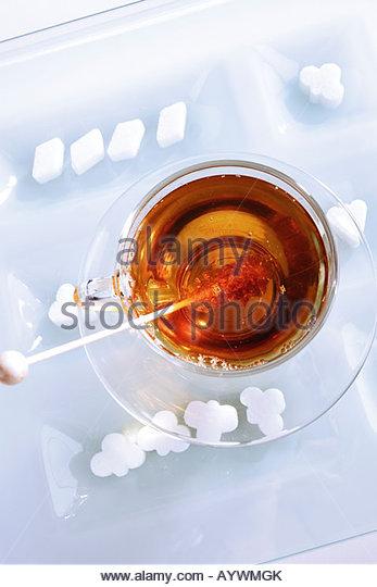 Getränke, Getränk, Tee, schwarzer Tee, Tee trinken, trinken Tee, Tee-Set, Tee-service Stockbild