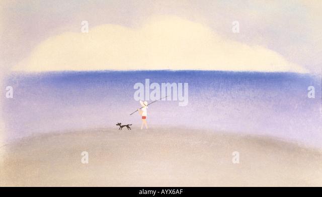 Abbildung Abbildung Aquarellmalerei Stockbild