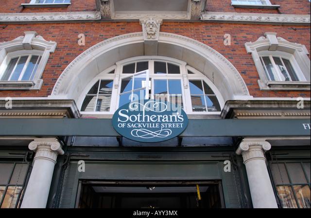 Die Sotheran Antiquariate in Sackville Street London Stockbild
