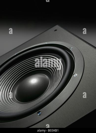 Audio-Lautsprecher vertikal Stockbild