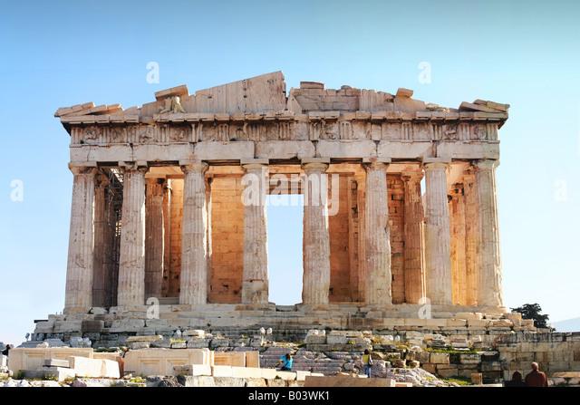 Akropolis jetzt der antike Parthenon-Tempel, fokale Punkt der Akropolis in Athen. Stockbild