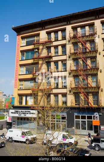 Lage von Tribeca Film Festival Varick Stret New York City Stockbild
